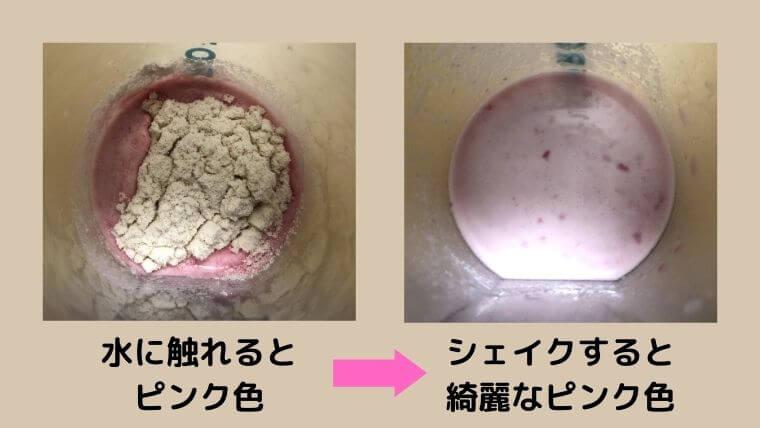 ブルーベリーチーズケーキのレビュー:見た目の変化