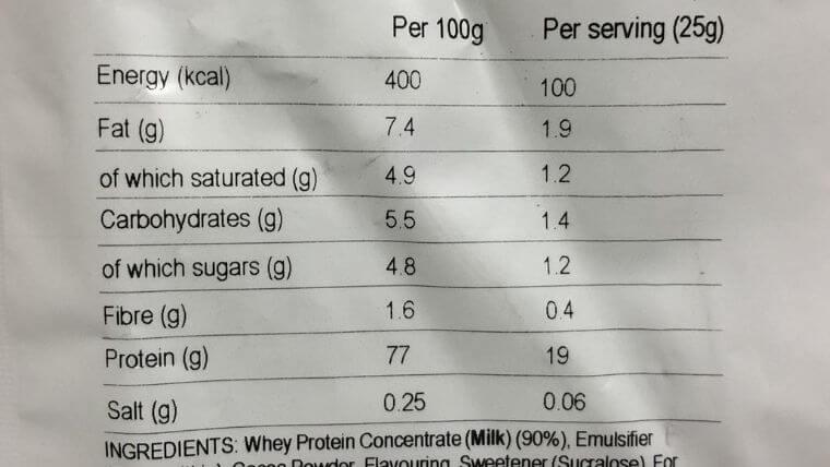 ロッキーロード(プロテイン)の栄養成分